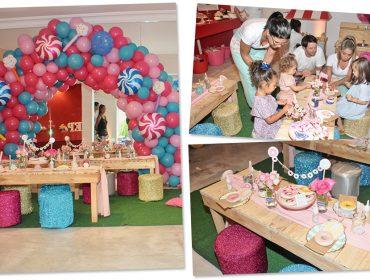 No Piquenique Glamurama, as crianças se divertiram criando donuts com a Chicco