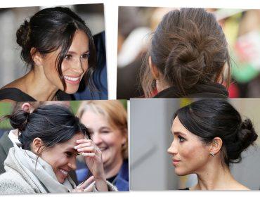 """O """"messy bun"""" de Meghan Markle é o penteado da temporada. Como fazer?"""