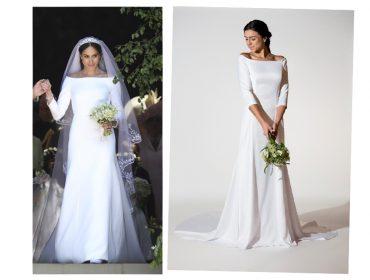 """Vestido de noiva """"igual"""" ao de Meghan Markle é vendido por R$ 1,5 mil por start up brasileira"""