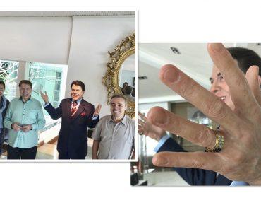 Silvio Santos ganha estátua de cera de Gugu Liberato bem no estilo Madame Tussauds