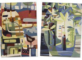 Lá em Casa: cores e formas nos tapetes da designer chinesa Yu Li Min