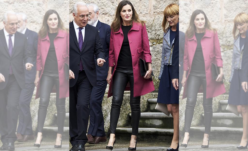 9af05c33a6291 Rainha Letizia da Espanha nessa terça-feira em San Millan de la Cogolla