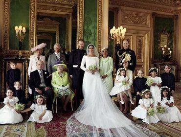 O baile todo: saiu a foto oficial do casamento de Meghan e Harry… Vem ver!
