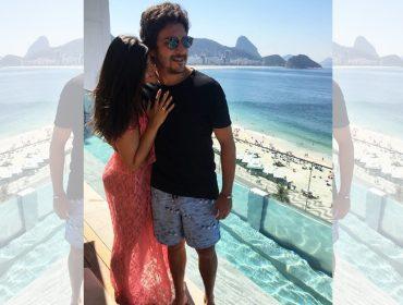 Vai ter casório! Sofia Derani fica noiva deFelipe Chiara durante viagem ao Rio