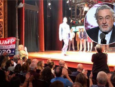 Depois de protestar contra Trump, De Niro se torna alvo de manifestante a favor do presidente