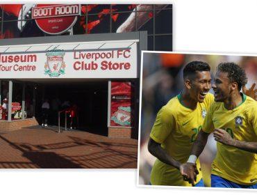 Em homenagem a Firmino e Neymar, museu do Liverpool não cobrou ingressos de brasileiros nesta segunda