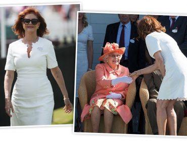 Susan Sarandon quebra protocolo real ao se apresentar para a rainha Elizabeth II