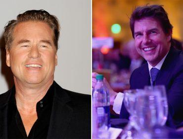 """Hospedados no mesmo hotel, Tom Cruise e Val Kilmer revivem a amizade dos anos de """"Top Gun"""""""