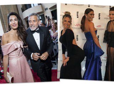 Em noite de homenagem a George Clooney, Amal rouba a cena e estrelas brasileiras tietam o astro
