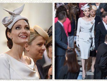 Angelina Jolie rouba a cena ao se vestir como uma duquesa britânica em evento em Londres