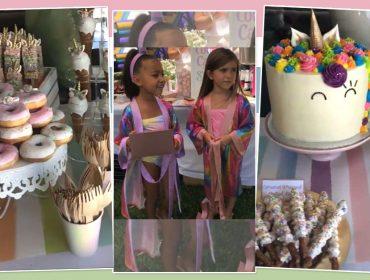 Kim mostra detalhes da festa de aniversário da filha North West e da sobrinha Penelope Disick