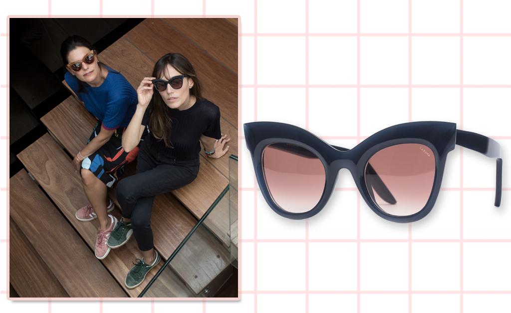 6de43c72a Gisela Assis, da Lapima, e Helena Sicupira, da Etoiles, e o óculos de sol  Helena Etoiles + Lapima || Créditos: Divulgação