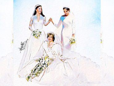 Diana, Kate Middleton e Meghan Markle vestidas de noivas e juntas? Vem ver!