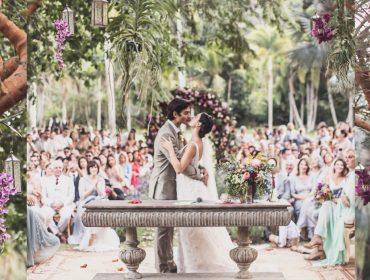 Isis Valverde e Andre Resende se casam com direito a show de Maria Gadú, Preta Gil… e pit stop no McDonald's