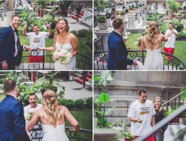 """Adam Sandler faz """"photobomb"""" em festa de casamento no Canadá e leva noivos ao delírio"""