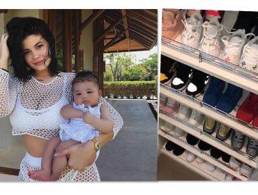 Kylie Jenner exibe coleção de sapatos luxuosa da filha de apenas 5 meses