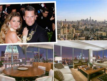 Gisele e Tom Brady vendem apartamento em prédio cobiçado de NY por mais de R$ 50 mi
