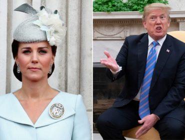Visita de Trump ao Reino Unido traz à tona comentários antigos que ele fez sobre Kate Middleton