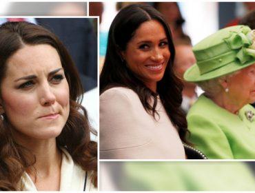 Kate Middleton está morrendo de ciúmes da amizade entre a rainha e Meghan Markle, diz revista