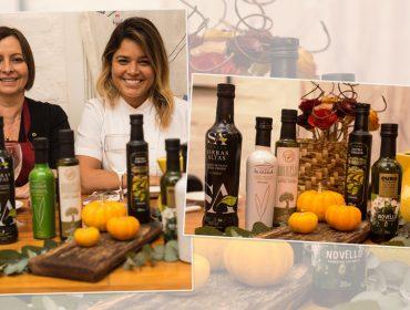 Carla Pernambuco e Pérola Polillo recebem para jantar temático sobre azeites