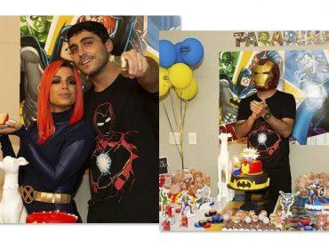 Anitta arma festa surpresa para marido com tema de super-herói. Aos detalhes