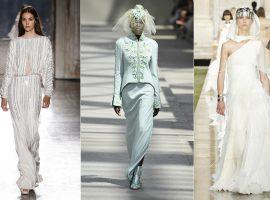 Referências de streetwear dão toque moderno a vestidos de noiva em semana de Alta-Costura