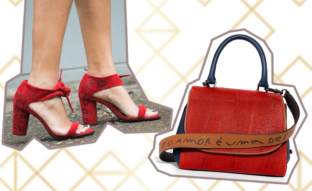 3f07be412 Sandália e bolsa da coleção Bota Fé, de Paula Ferber e Mana Bernardes ||  Créditos: Divulgação