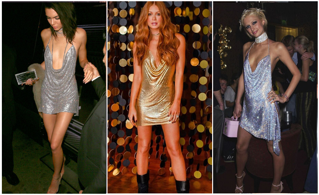 6f14038f9 Kendall Jenner, Marina e Paris Hilton: mesmo estilo em épocas diferentes //  Reprodução Instagram