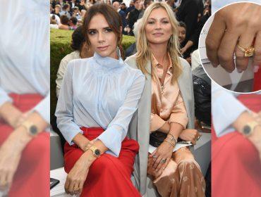 """Sob rumores de separação, Victoria Beckham exibe anel de """"noivado"""" avaliado em R$ 600 mil"""