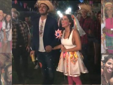 Anitta arma festa junina de última hora em sua casa com presença de amigos famosos