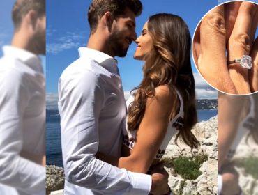 Com direito a anel de diamante poderoso, Izabel Goulart fica noiva de goleiro alemão Kevin Trapp