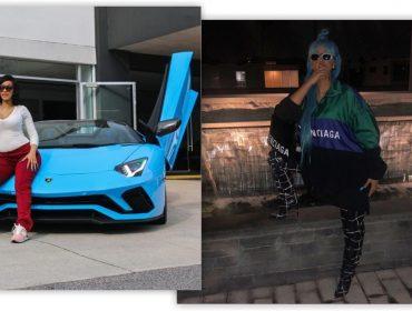 Cardi B compra Lamborghini de R$ 1,7 mi e passa a usar peruca da mesma cor só pra combinar com o carrão