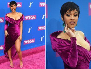 De cabelos curtíssimos e ostentando mais de R$ 15 mi em joias, Cardi B rouba a cena no VMA
