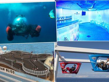 Caminhadas sobre o mar e spinning no ar: 10 atrações inusitadas oferecidas em cruzeiros