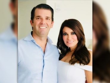 Namorada de Don Jr. posta foto super-retocada com o primogênito de Trump e internet não perdoa