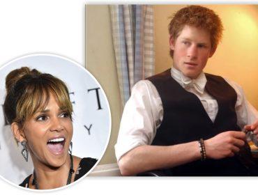 Halle Berry tira sarro do príncipe Harry por causa de foto antiga em que aparece no quarto dele. Oi?