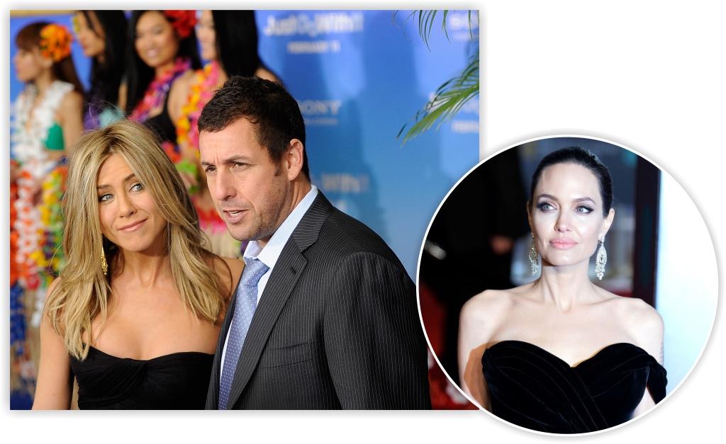 Flagrada de mãos dadas com Adam Sandler, Jen Aniston deixa