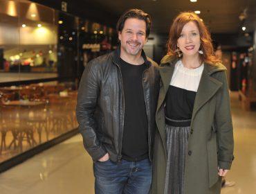 """Murilo Benício e Camila Morgado curtiram a exibição de """"O animal cordial"""" no Espaço Itaú de Cinema"""