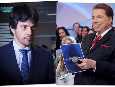 """Fábio Faria finge ser Silvio Santos e """"trola"""" família Abravanel. Vem ver!"""