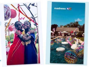 Madonna arma pool party de aniversário para suas filhas com toque indiano em Portugal