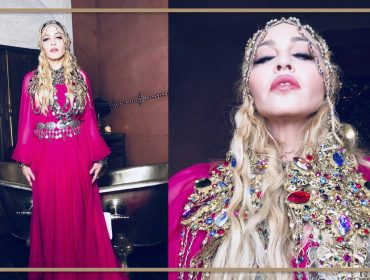 """Madonna aposta em look """"all pink"""" étnico para arrasar em sua festa de aniversário esta noite"""