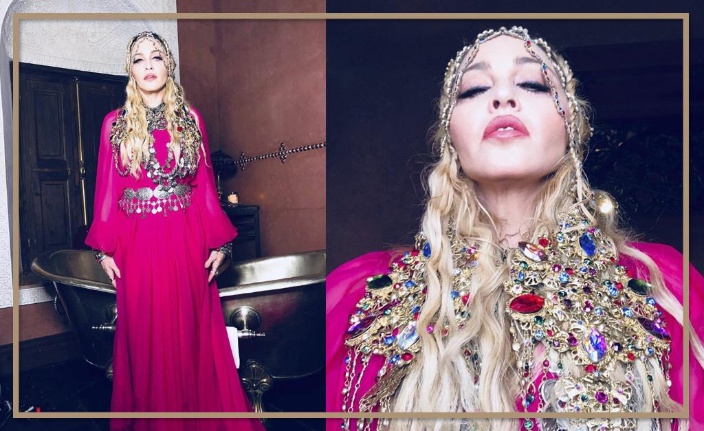 Madonna aposta em look