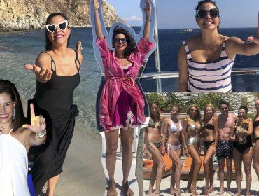 Narcisa Tamborindeguy bota para ferver em temporada na Grécia… Ai que verão europeu!