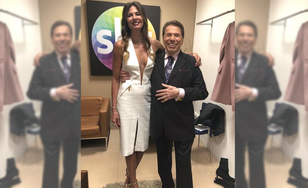 9217094b0 Luciana Gimenez com Silvio Santos nos bastidores do SBT || Créditos:  Reprodução Instagram