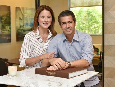 Adriana e Romeu Trussardi desembarcaram em Miami para apresentar as novidades da Trousseau
