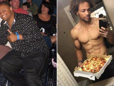 Americano afirma ter conquistado o tão sonhado tanquinho comendo pizza e sorvete todo dia. Oi?