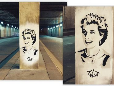 Grafite com o rosto de Lady Di no local de Paris onde ela morreu causa intriga entre os franceses
