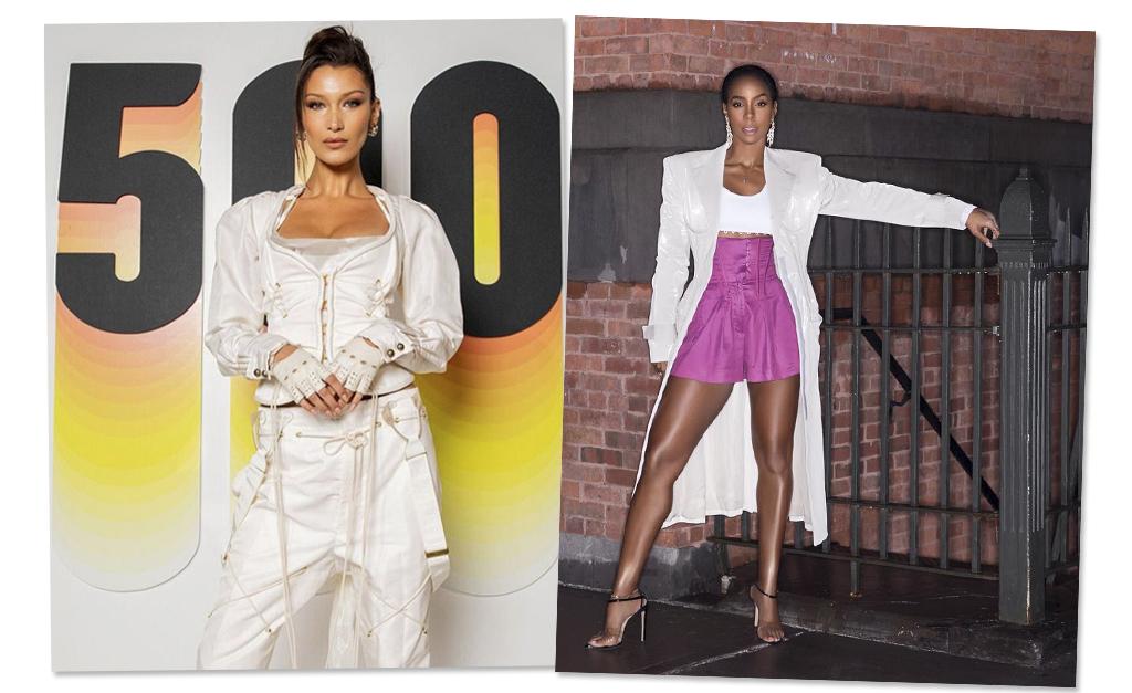 1ebc5c3c5d Bella Hadid e a cantora Kelly Rowland introduzindo espartilhos em seus  looks