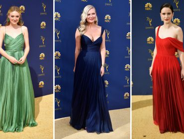Plissados foram escolhas seguras e sofisticadas entre celebs no Emmy Awards 2018