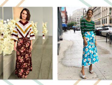 Como combinar listras e floraiscomo ícones de street style? Glamurama ensina!